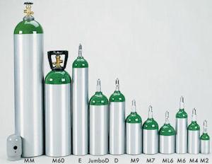Oxygen Cylinder-Tanks | Accessories | M2 to H (K) | Tri-Med,Inc